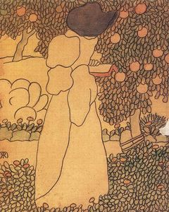 Jozsef Rippl Ronai - Woman in the Garden (also known as Walking Woman)