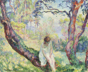 Henri Lebasque - Woman in a landscape