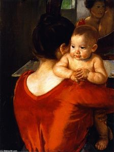 Mary Stevenson Cassatt - Woman in a Red Bodice and Her Child