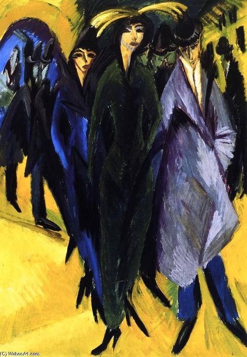 Woman in the Street, Oil On Canvas by Ernst Ludwig Kirchner (1880-1938, Germany)
