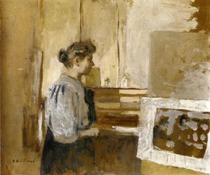 Jean Edouard Vuillard - Woman in the Studio