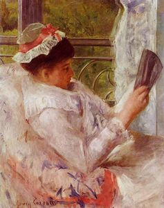 Mary Stevenson Cassatt - Woman Reading (also known as Lydia Cassatt)