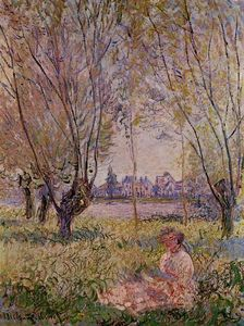 Claude Monet - Woman Sitting under the Willows
