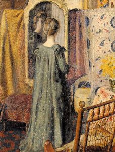 Georges Lemmen - Woman Standing in Front of the Mirror (also known as Madame Georges Lemmen)