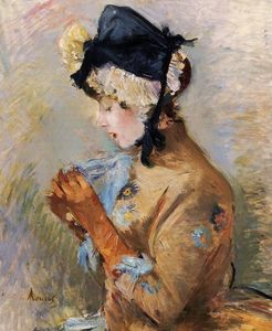 Berthe Morisot - Woman Wearing Gloves (also known as The Parisian)