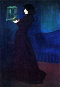Jozsef Rippl Ronai - Woman with a Bird Cage