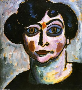 Alexej Georgewitsch Von Jawlensky - Woman with Black Hair