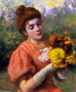 Federico Zandomeneghi - Woman with a Bouquet