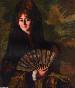 Ignacio Zuloaga Y Zabaleta - Woman with Fan