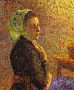 Camille Pissarro - Woman with a Green Scarf