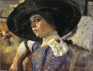 Jean Edouard Vuillard - Woman with Hat