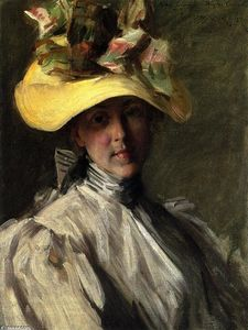 William Merritt Chase - Woman with a Large Hat