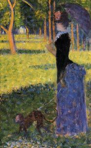 Georges Pierre Seurat - Woman with a Monkey