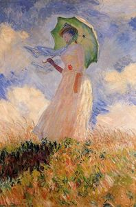 Claude Monet - Woman with a Parasol (also known as Study of a Figure Outdoors (Facing Left))