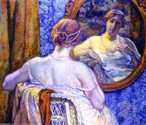 Theo Van Rysselberghe - Woman with Red Necklace (also known as La femme au collier rose)