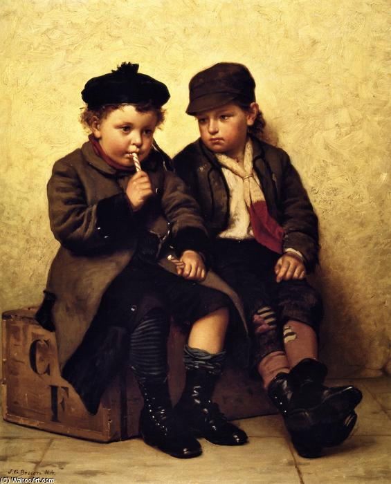 Won (also known as Give us a Taste), Oil On Canvas by John George Brown (1831-1913, United Kingdom)