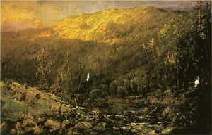 William Louis Sonntag - A Wooded Mountain Landscape