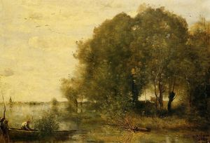 Jean Baptiste Camille Corot - Wooded Peninsula