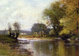 John Francis Murphy - Wooded River Landscape