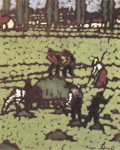 Jozsef Rippl Ronai - Work in the Fields