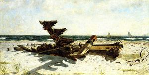Joseph Decker - A Wreck at Rackaway