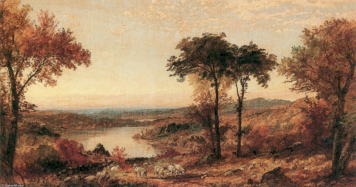 Wyoming Valley, Pennsylvania, 1897 by Jasper Francis Cropsey (1823-1900, United States) | WahooArt.com