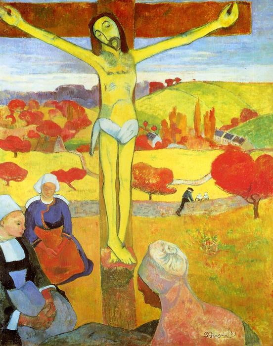 Yellow Christ, 1889 by Paul Gauguin (1848-1903, France) | Museum Quality Reproductions | WahooArt.com