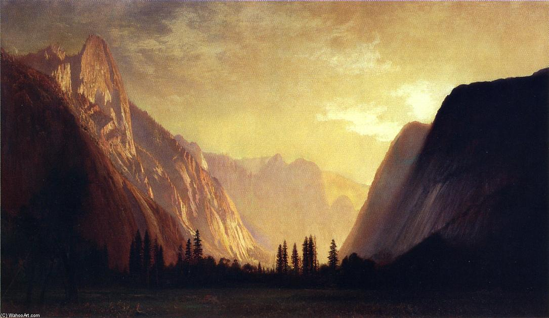 Yosemite Valley by Gilbert Munger (1837-1903, United States) | Famous Paintings Reproductions | WahooArt.com