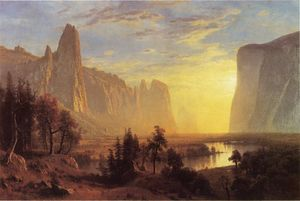 Albert Bierstadt - Yosemite Valley (also known as Looking Down the Yosemite Valley)