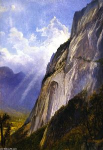 Gilbert Munger - Yosemite Valley from a Cliff