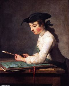 Jean-Baptiste Simeon Chardin - The Young Draughtsman