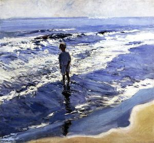 Joaquin Sorolla Y Bastida - Young Girl in a Silvery Sea
