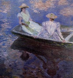 Claude Monet - Young Girls in a Row Boat