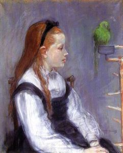 Berthe Morisot - Young Girl with a Parrot