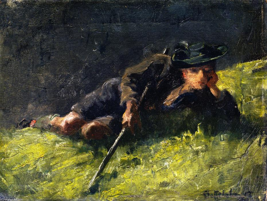 Young Herdsman, 1902 by Franz Marc (1880-1916, Germany) | Art Reproduction | WahooArt.com