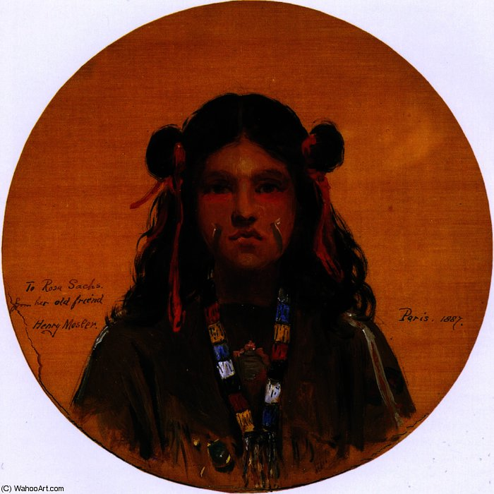 Young Indian Woman (also known as Young Indian Girl), Painting by Henry Mosler (1841-1920, Poland)