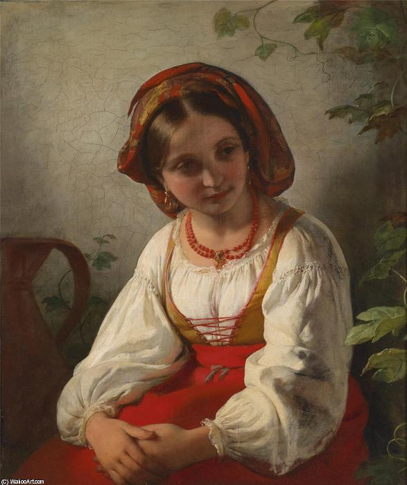 Young Italian Girl by Friedrich Ritter Von Amerling (1803-1887)