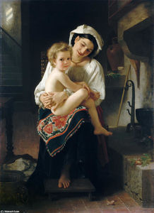 William Adolphe Bouguereau - Young Mother Gazing at Her Child