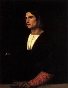 Tiziano Vecellio (Titian) - Young Man with Cap and Gloves