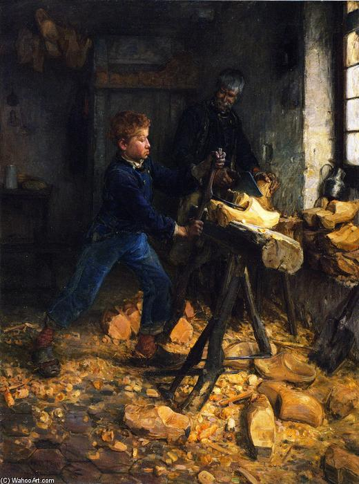 The Young Sabot Maker, 1895 by Henry Ossawa Tanner (1859-1937, United States) | Famous Paintings Reproductions | WahooArt.com