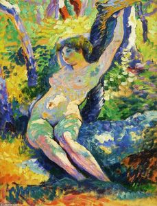 Henri Edmond Cross - Young Woman (also known as Study for 'The Clearing)