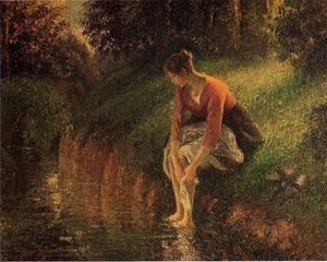 Camille Pissarro - Young Woman Bathing Her Feet (also known as The Foot Bath)
