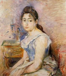 Berthe Morisot - Young Woman in a Blue Blouse