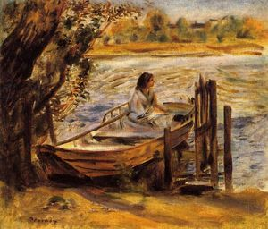 Pierre-Auguste Renoir - Young Woman in a Boat (also known as Lise Trehot)