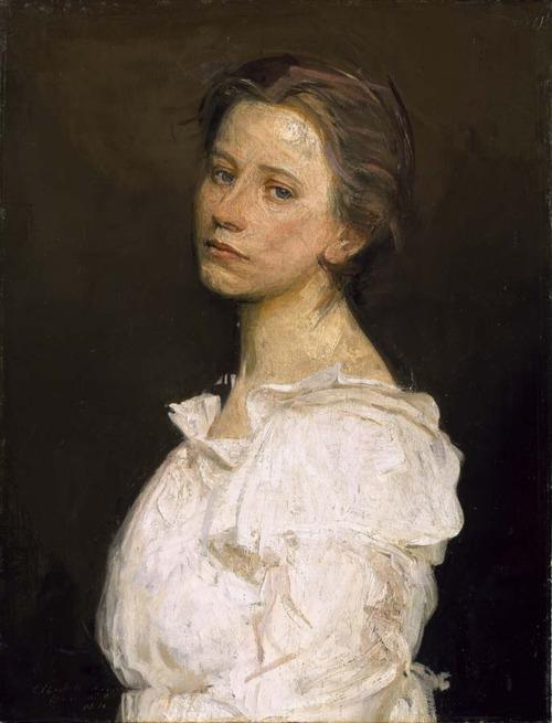 Young Woman in White by Abbott Handerson Thayer (1849-1921, United States) | Painting Copy | WahooArt.com