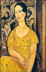 Amedeo Modigliani - Young Woman in a Yellow Dress (also known as Madame Modot)