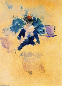 Jean Louis Forain - Young Woman Seated (also known as Jeune femme assise)