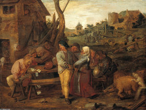 Adriaen Brouwer - Farmers Fight Party