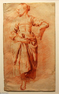 Adriaen Van De Velde - Study of a Woman in Peasant Dress