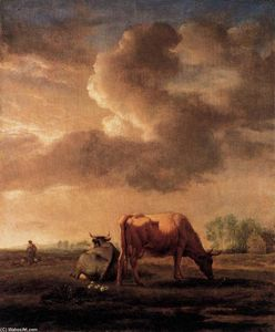 Adriaen Van De Velde - Cows on a Meadow